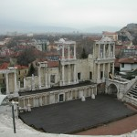 Bulgaria, Roman amphitheater in Plovdiv. Plovdiv was known as Philippopolis in the Byzantine era.